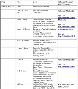 Schedule at a glance Day3